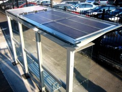 Off-Grid solar powered bus stop shelters